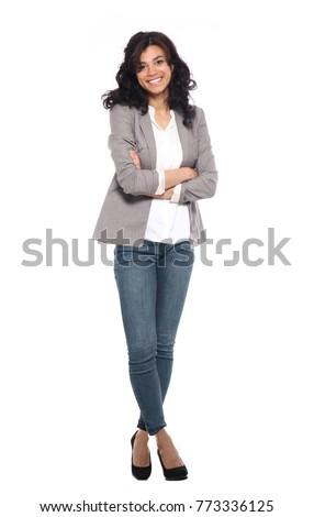 Full body afro woman