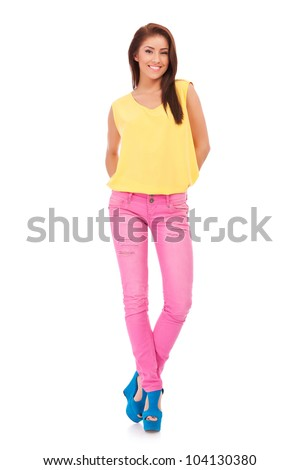 male model on white isolation stock photo full body casual