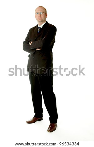 full body shot of a business man