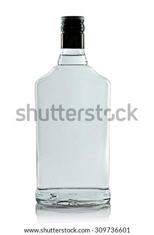 full bottle of vodka on a white background #309736601
