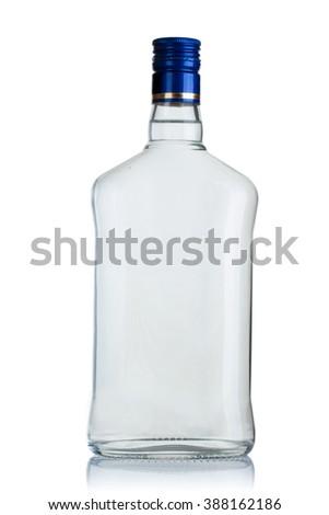 full bottle of vodka on a white background #388162186