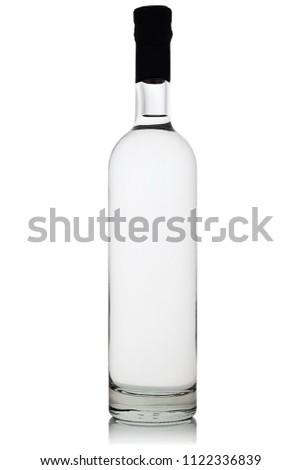 Full bottle of vodka on white background #1122336839