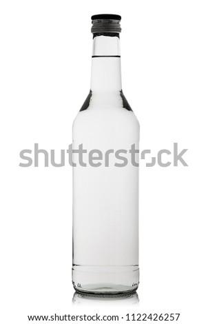 Full bottle of vodka on white background #1122426257