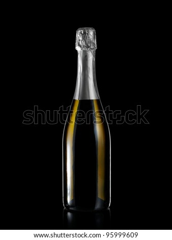 Full champagne bottle
