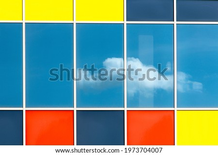 full coloured facade with a refletion Foto stock ©