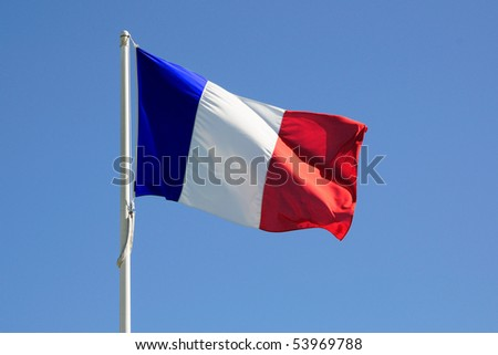 Full flag of France - stock photo