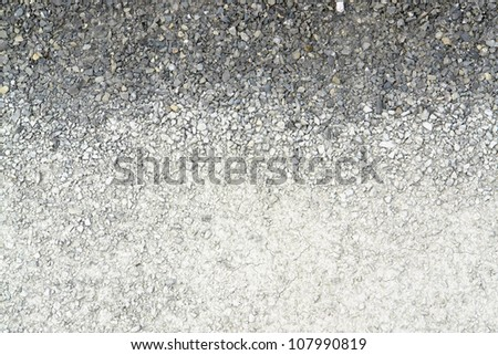 full frame abstract gravel background flat seen from above