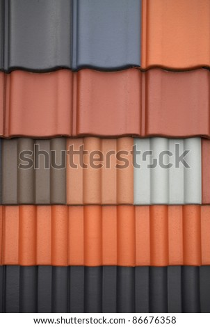 full frame abstract roof tile pattern