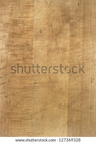 full frame detail of a wooden cutting board