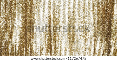 Full frame gold sequins curtain background texture.