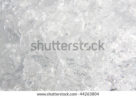 Full frame ice background, frozen water, grey