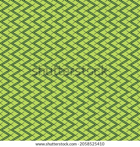 Full Frame Illustrated Seamless Green Zigzag Pattern Background