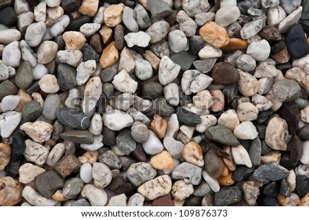 Full frame of assorted pebbles