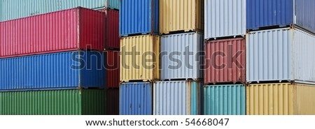 Full frame of Cargo Containers