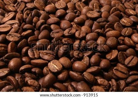 Full frame of coffee beans