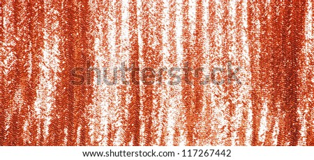 Full frame red sequins curtain background texture.