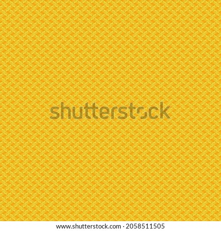 Full Frame Seamless Illustrated Background of Yellow Abstract Pattern