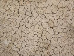 Full frame shot of dry land.  Dry cracked dirt ground.