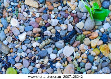 Full frame shot of small stones Foto stock ©