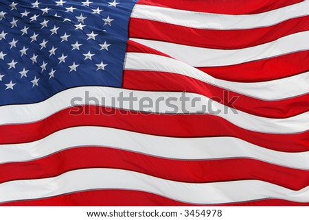 full frame shot of the US flag flying