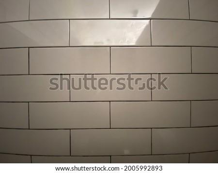 Full frame shot of tiled floor, wall background. Interior design, bathroom. Foto stock ©