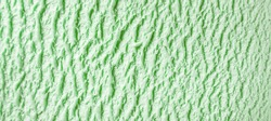 Full Frame Texture Background - Close Up of Green Mint or Pistachio Ice Cream - Creamy, Cold and Frozen Dairy Dessert