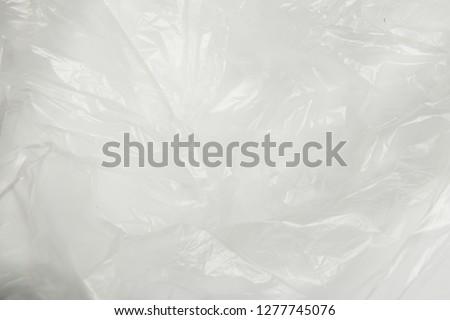 Full frame transparant wrinkled plastic #1277745076