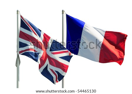 Full France and Great Britain flags