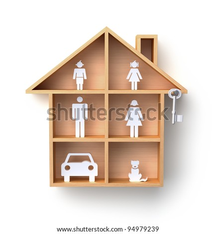 Full house - stock photo