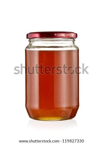 Full jar with honey