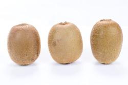 Full kiwi fruit isolated on white background
