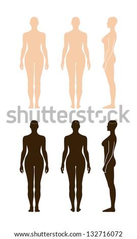 Full front back nude female #5
