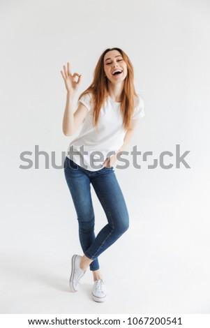 full length image of cheerful...