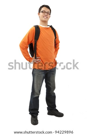Full length portrait of Asian student