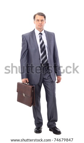 full-length portrait of stylish businessman