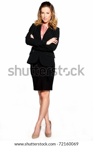 Full length portrait of successful business woman