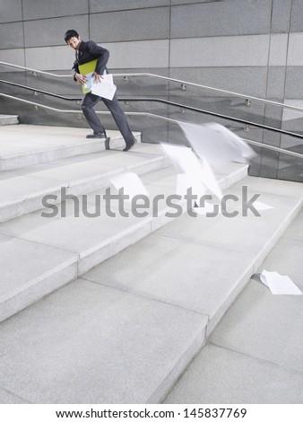 Cartoon Person Running Away