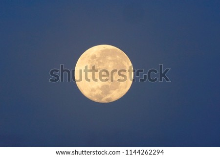 Full Moon / A full moon is the lunar phase that occurs when the Moon is completely illuminated as seen from Earth. #1144262294