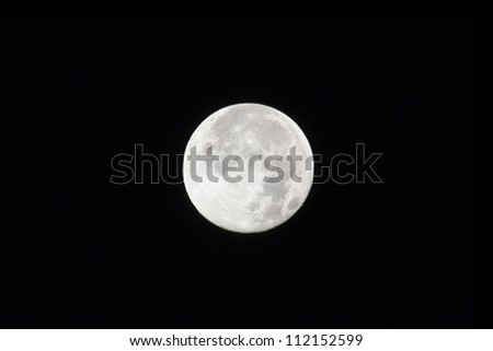 Full moon against dark sky