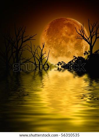 Full moon background