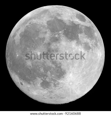 Full moon background isolated on black