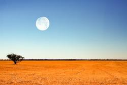 full moon in Australian outback