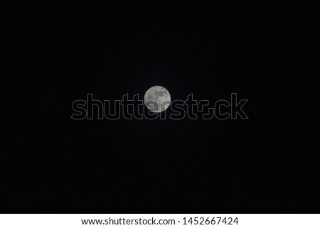 Full Moon in Night Celestial Body Astrophotography #1452667424