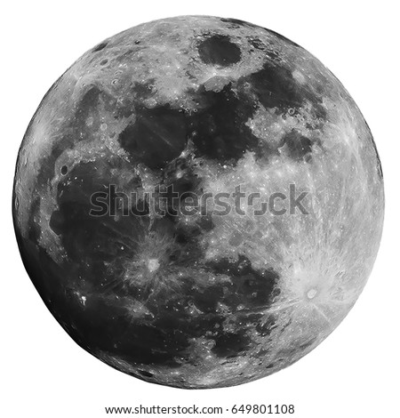 full moon isolated on white...