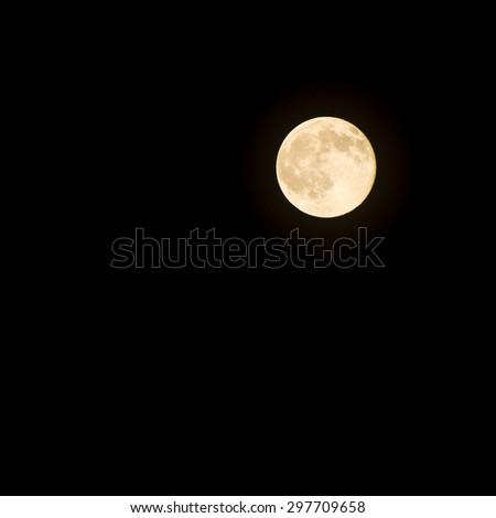 full moon night dark sky and light moon