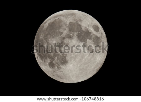 Full moon on a black sky Picture taken from the Ukraine July 3 2012