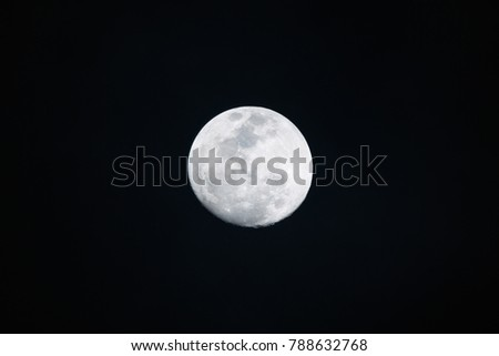 Full moon on dark background in the night #788632768