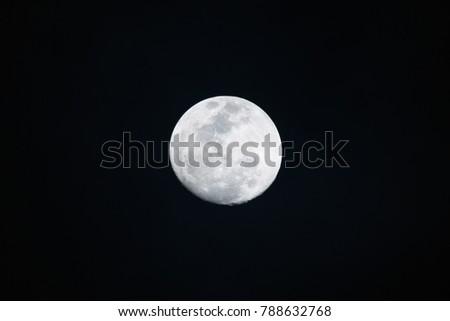 Full moon on dark background in the night #788632768