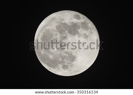 Full moon on the dark night