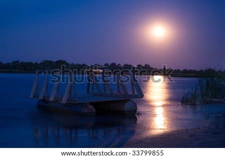 Full moon on the river